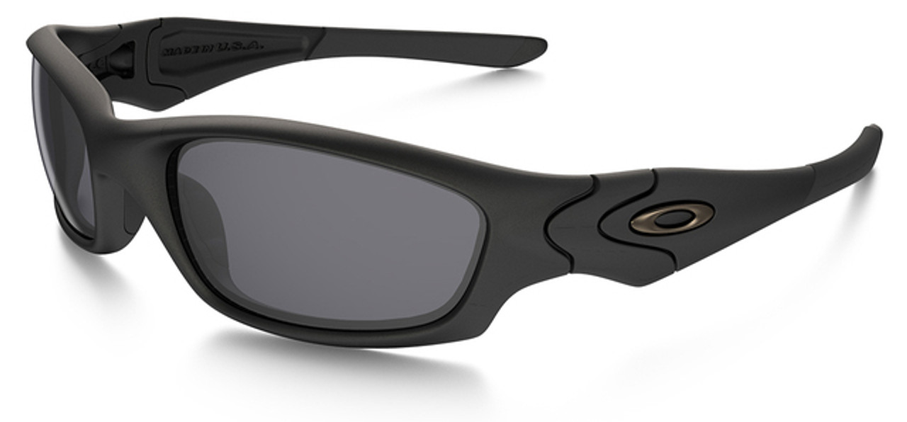 cadb435e1e4 Oakley SI Straight Jacket with Matte Black Frame and Grey Lens