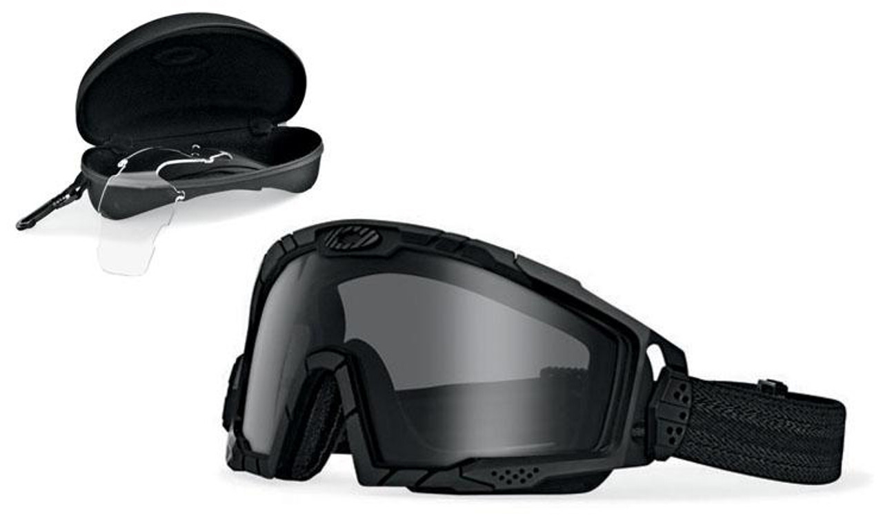 80aeebebc7c83 Oakley SI Ballistic Goggle 2.0 Array with Black Frame and Clear and Grey  Lenses - Safety Glasses USA