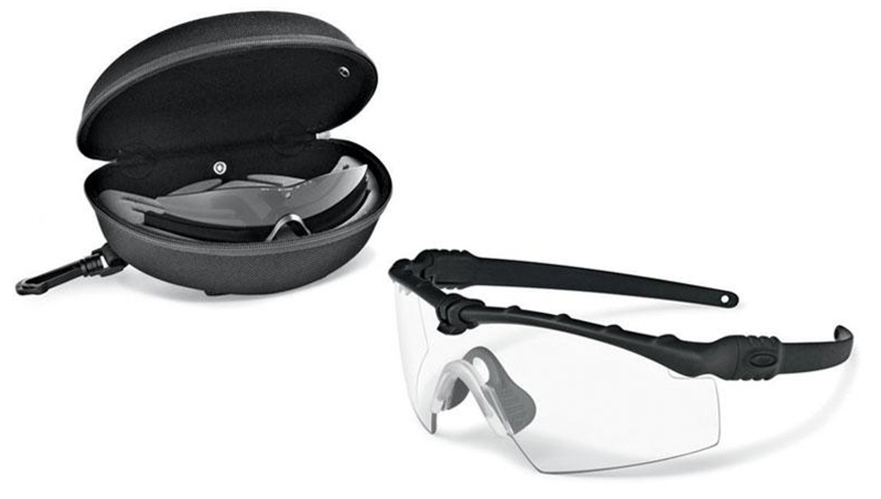 a2e6533aa02 Oakley SI Ballistic M Frame 3.0 Array with Black Frame and Clear and Grey  Lenses - Safety Glasses USA