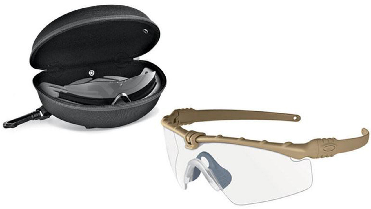 ae55e490201b1 Oakley SI Ballistic M Frame 3.0 Array with Dark Bone Frame and Clear and Grey  Lenses - Safety Glasses USA