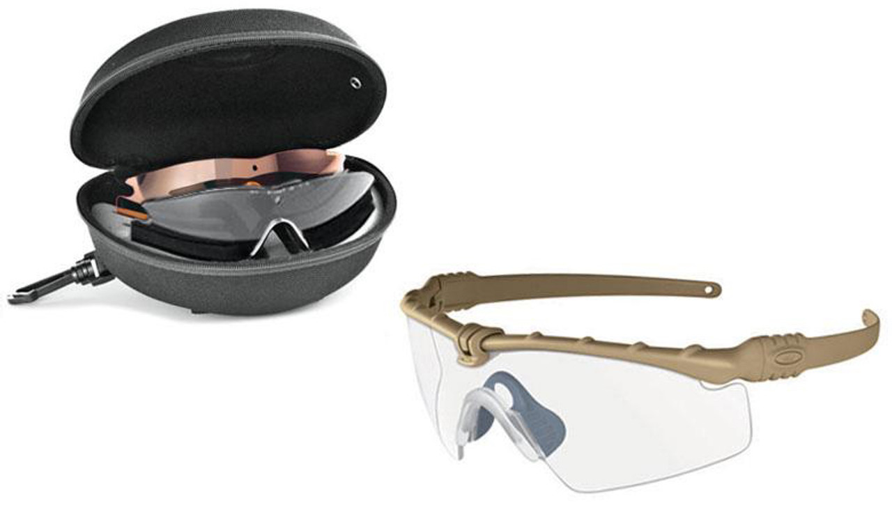 8be117f488 Oakley SI Ballistic M Frame 3.0 Array with Dark Bone Frame and Clear ...