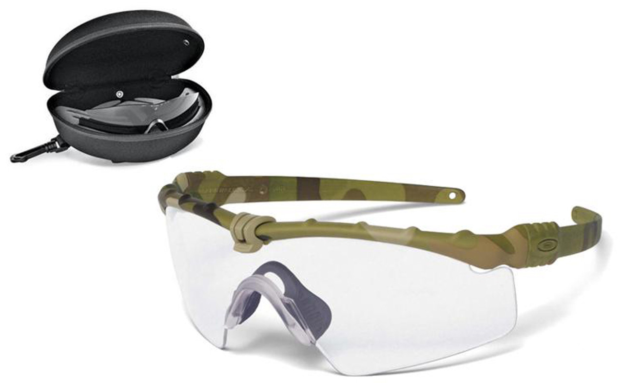 a6afc39f58 Oakley SI Ballistic M Frame 3.0 Array with Multicam Frame and Clear and Gray  Lenses - Safety Glasses USA