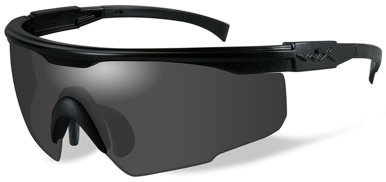 0e58a48645f Wiley X PT-1 Ballistic Sunglasses with Black Frame and Smoke Lens - Safety  Glasses USA