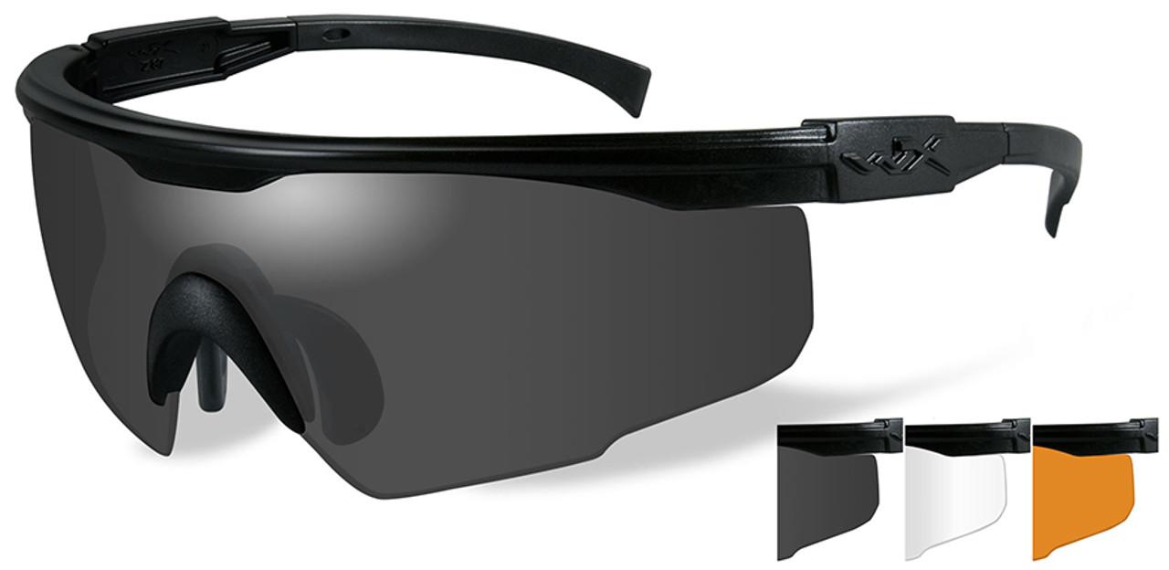 de352c0f12 Wiley X PT-1 Ballistic Sunglasses Kit with Black Frame and Smoke ...