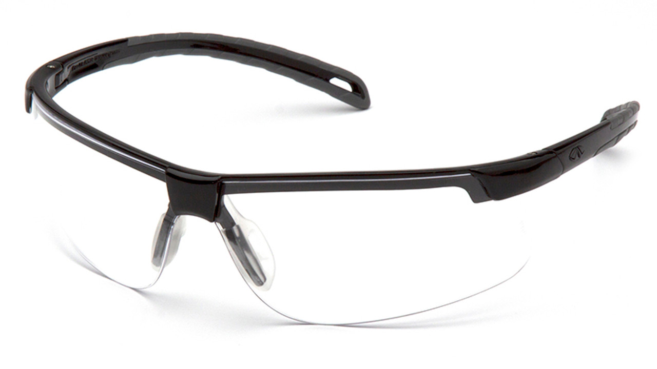 6fec593a80e Pyramex Ever-Lite Safety Glasses Black Frame Clear Anti-Fog Lens