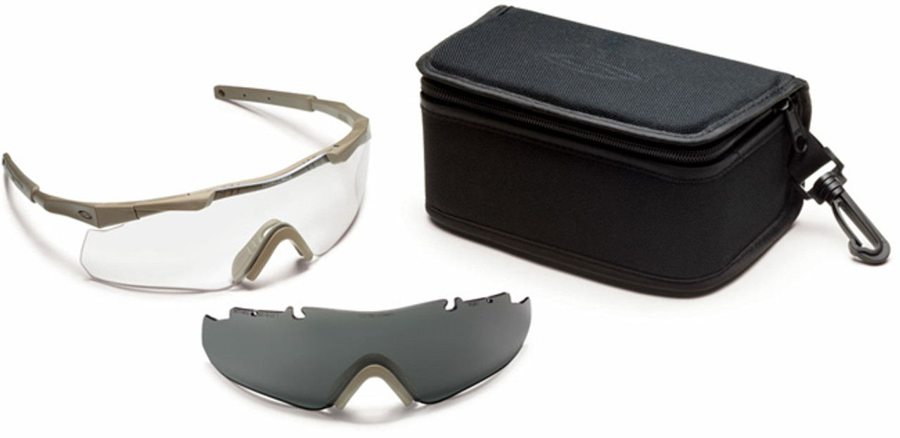 9db1eea7d2 Smith Elite Aegis ARC Compact Tactical Eyeshield Kit with Tan-499 Frame and  Clear and Gray Lenses