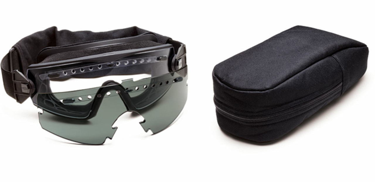 24a7bd95cc Smith Elite LoPro Regulator Tactical Goggle Kit with Black Frame and Clear  and Gray Lenses