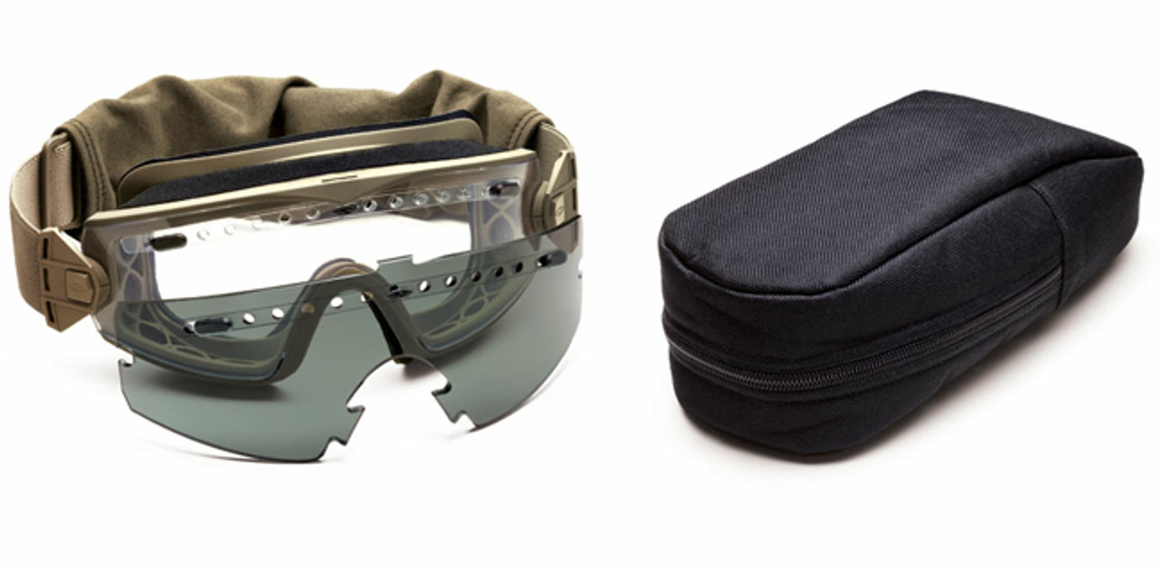 b31e692f8e Smith Elite LoPro Regulator Tactical Goggle Kit with Tan-499 Frame and Clear  and Gray Lenses