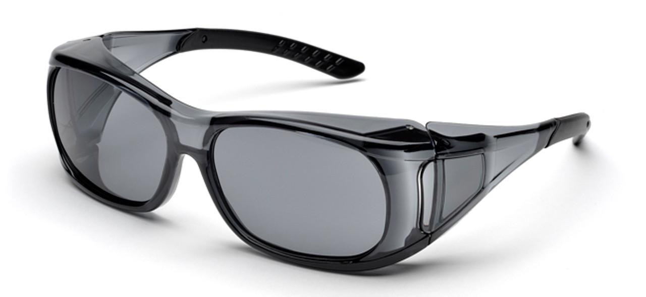 50e4b08f8340 Elvex OVR-Spec II Safety Glasses Smoky Frame Gray Lens
