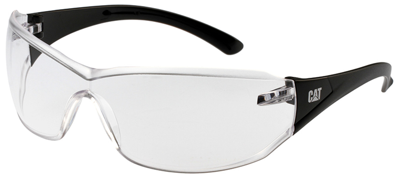 debc283acc2 CAT Shield Safety Glasses with Black Frame and Clear Lens