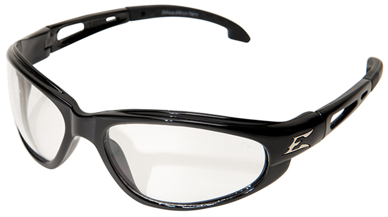 52c4db90e6 Edge Dakura Safety Glasses Black Frame Clear Vapor Shield Lens