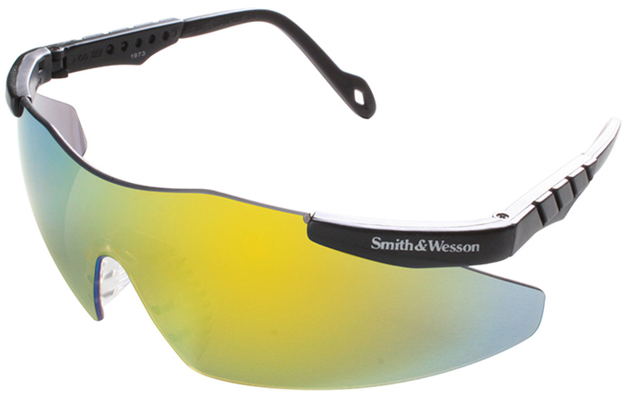 Smith & Wesson Mini Magnum Safety Glasses with Gold Metallic Mirror