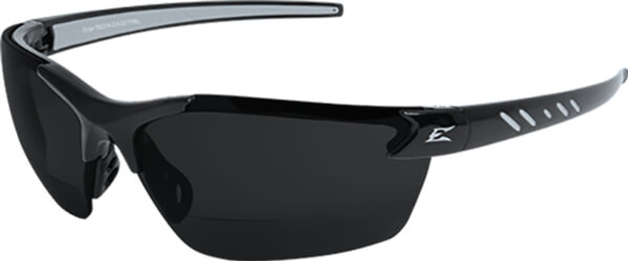 d6b1c042b5 Edge Zorge Polarized Bifocal Safety Glasses with Black Frame and Smoke  Polarized Lens
