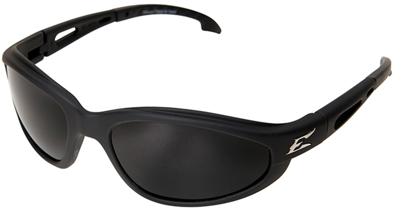 a91a28d258 Edge Dakura Polarized Safety Glasses with Black Frame and Smoke Lens