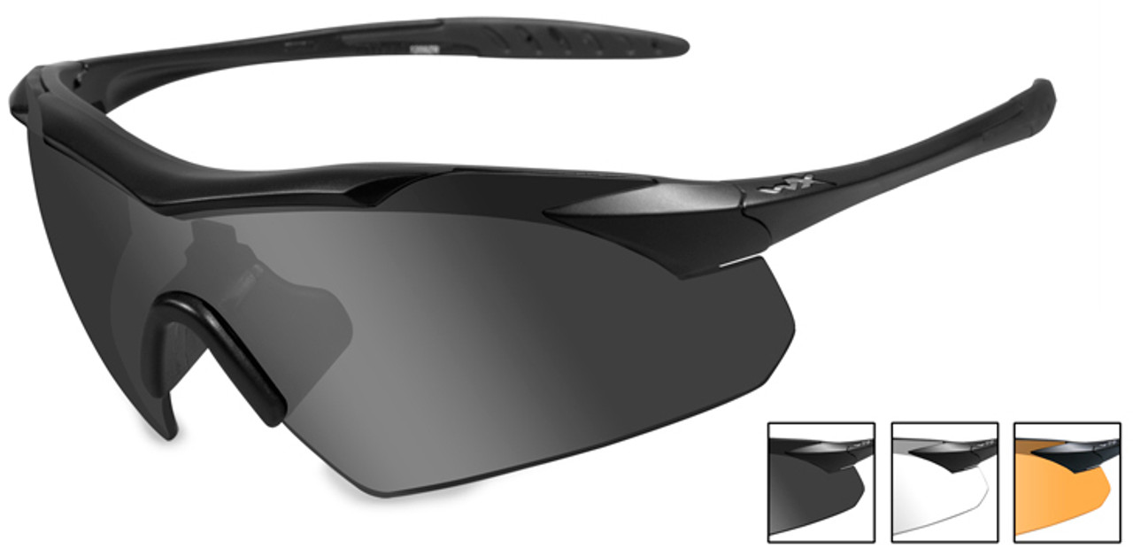 7c6b2f17a5 Wiley X Vapor Safety Sunglasses with Matte Black Frame and Grey ...