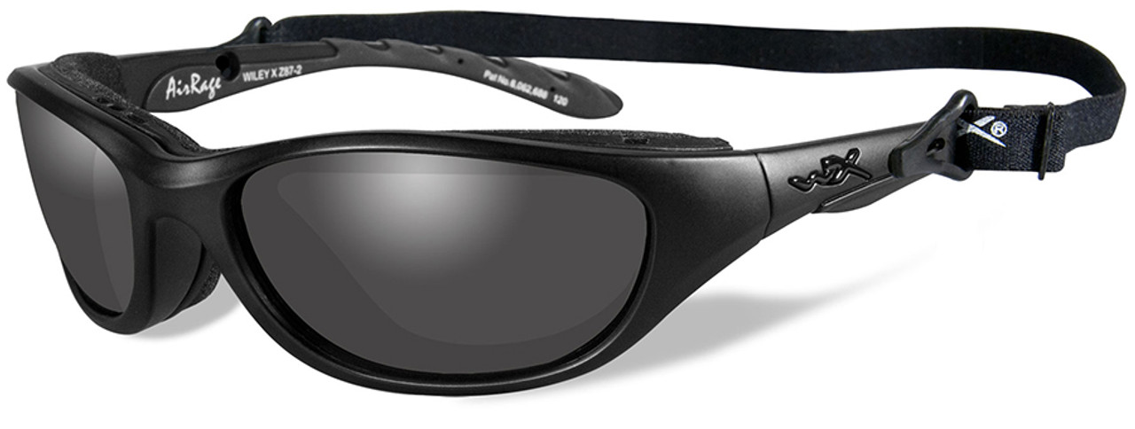 31caa2e5abb Wiley X AirRage Black Ops Safety Sunglasses with Matte Black Frame and  Smoke Grey Lens - Safety Glasses USA