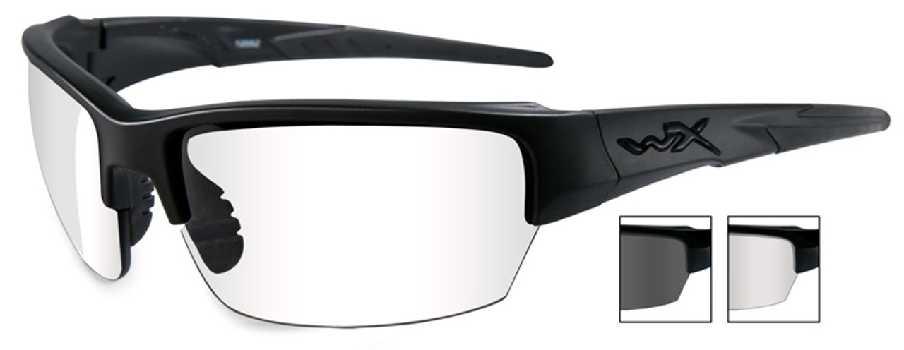 49812df4095 Wiley X Saint Safety Glasses Black Frame Clear Gray Lens