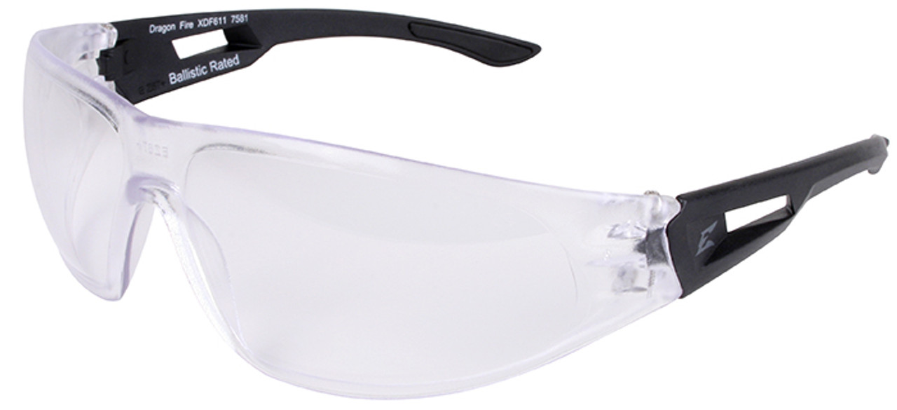 1fabb75db4 Edge Dragon Fire Tactical Safety Glasses with Clear Lens