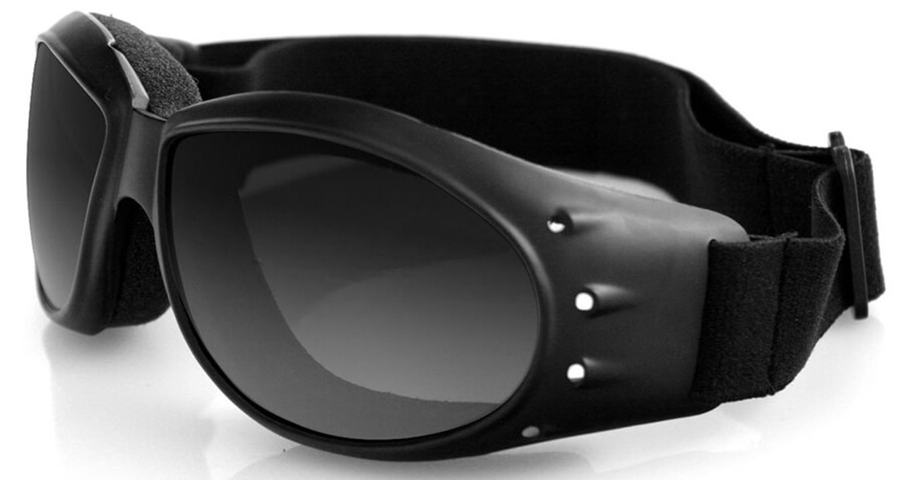 0eaa92a89ce Bobster Cruiser Motorcycle Goggles with Black Frame and Anti-Fog ...