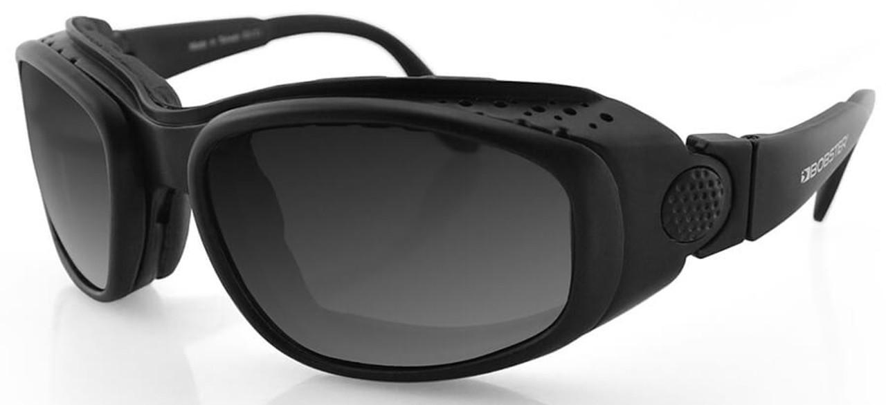 NEW Bobster Eyewear Cruiser II Black Frame Interchangeable Goggles w// 3 Lens Set