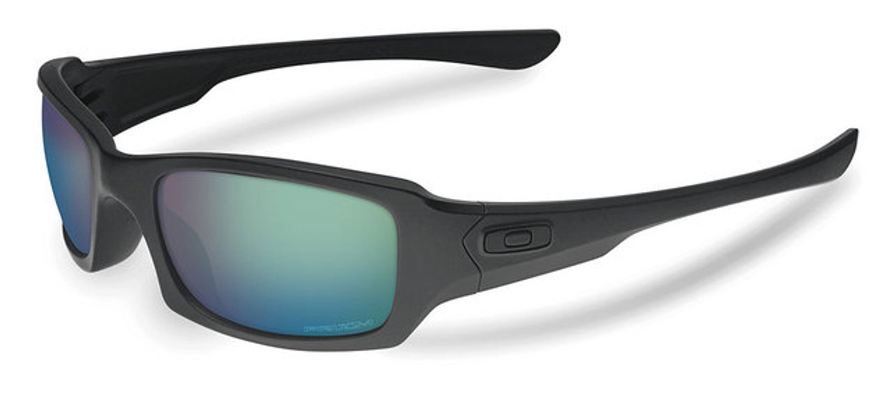f1aa9077d5 Oakley SI Fives Squared Sunglasses with Matte Black Frame and Prizm Maritime  Lens - Safety Glasses USA