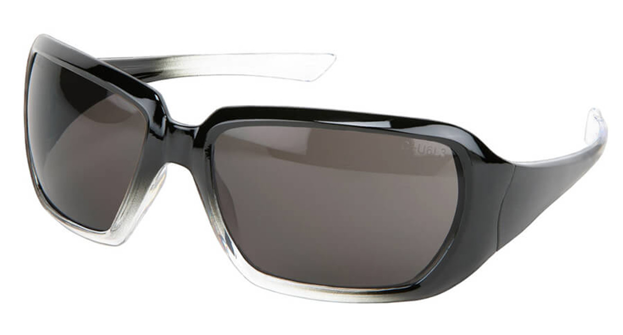 Crews 2 Women/'s Safety Glasses Sunglasses Black Gradient Frame Gray Lens