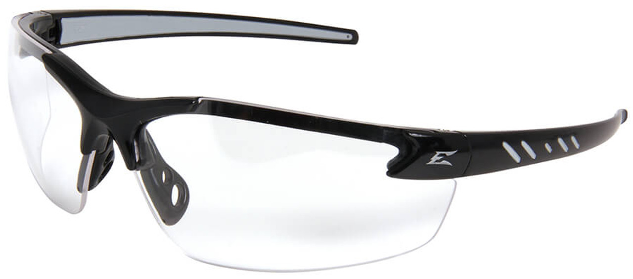 47f4d83dcf4 Edge Zorge G2 Safety Glasses Black Frame Clear Vapor Shield Lens