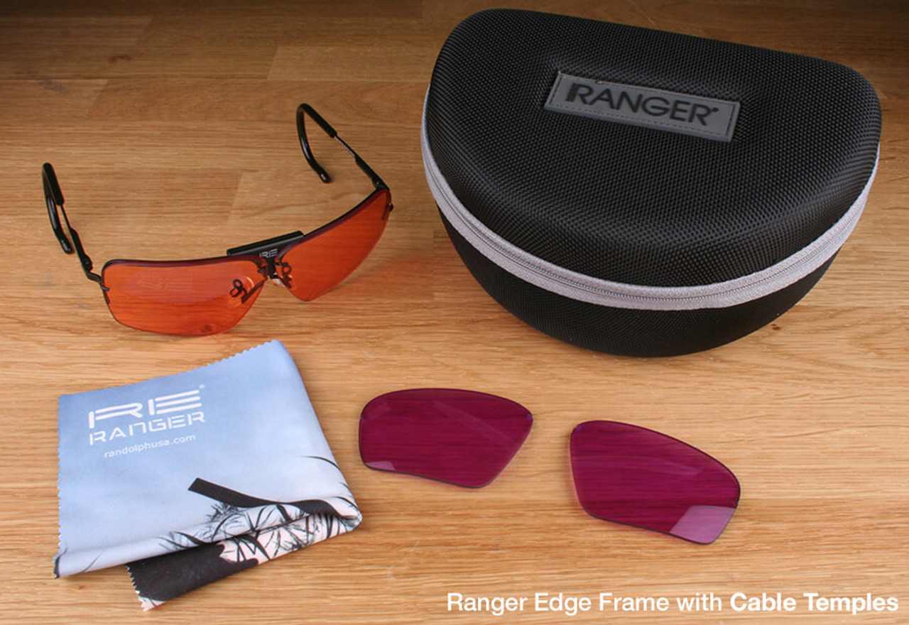 8b22d78275d Randolph Edge 2-Lens Clay Kit with HD Medium and Dark Purple Lenses with  Cable