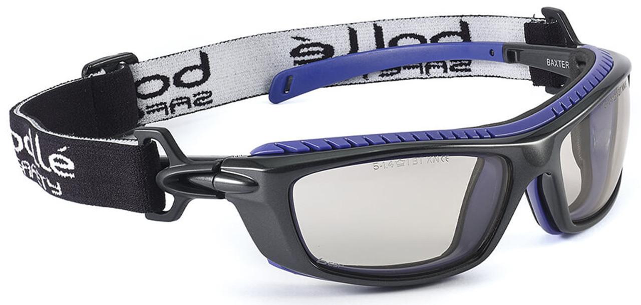 Coated Safety Glasses Smoke Tint Bolle Wraparound Eye Protection Sunglasses New