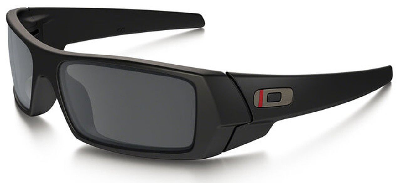99bf932afb Oakley SI Thin Red Line Gascan Sunglasses with Satin Black Frame and Black  Iridium Lens