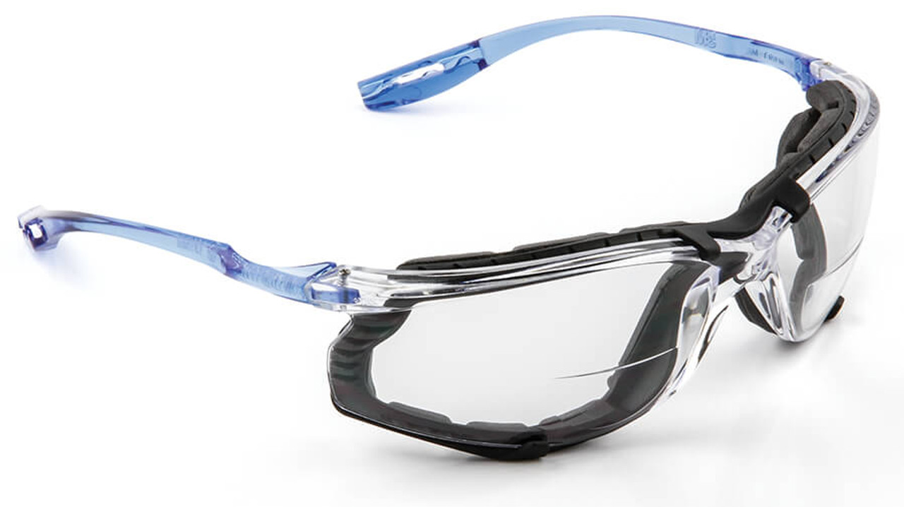 29a86787713 3M Virtua CCS Bifocal Safety Glasses with Blue Temples Foam Gasket and  Clear Anti-Fog