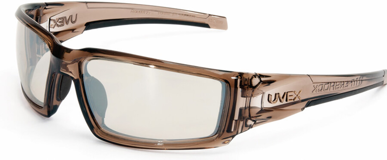 ff7a202da8 Uvex Hypershock Safety Glasses with Smoke Brown Frame and SCT Reflect-50  Lens