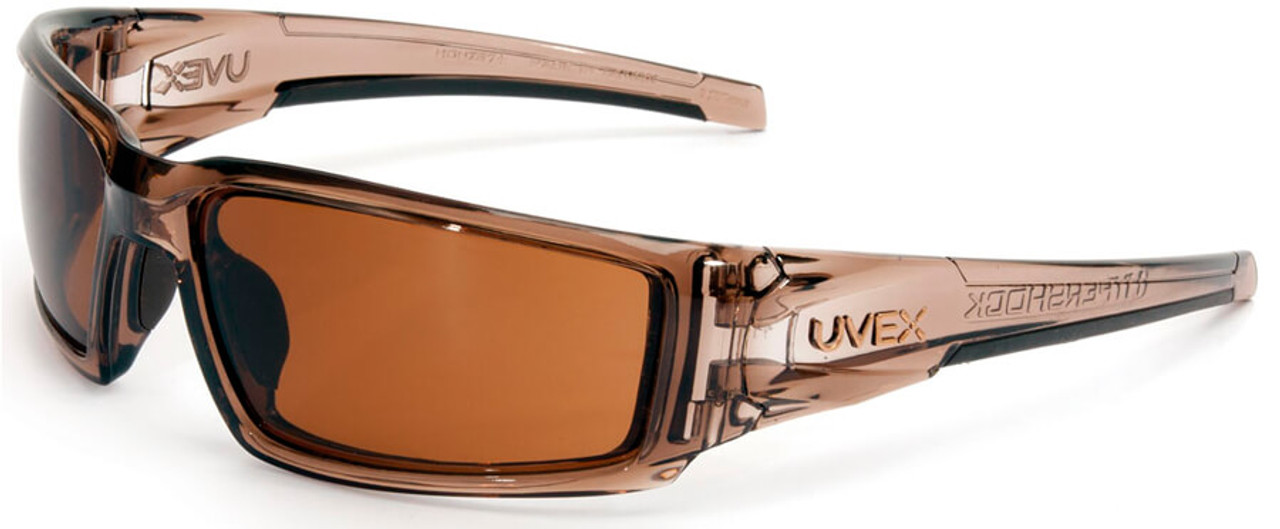 e3a3048d04 Uvex Hypershock Safety Glasses with Smoke Brown Frame and Espresso  Hydroshield Anti-Fog Lens