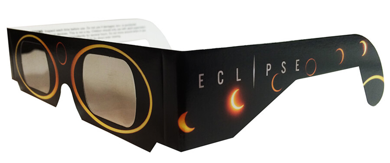 2528a44b7bc Eclipser Paper Sun Circles ISO Certified Solar Eclipse Glasses