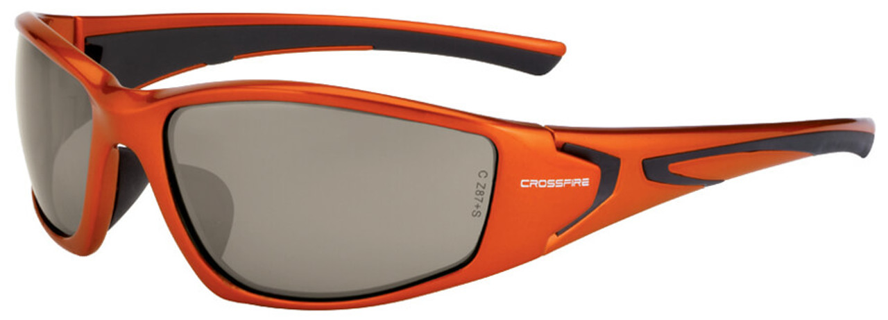 3f5e620f597 Crossfire RPG Safety Glasses with Burnt Orange Frame and HD Demi-Copper Mirror  Lens