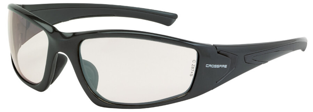 910645feff Crossfire RPG Safety Glasses with Pearl Gray Frame and Indoor-Outdoor Lens