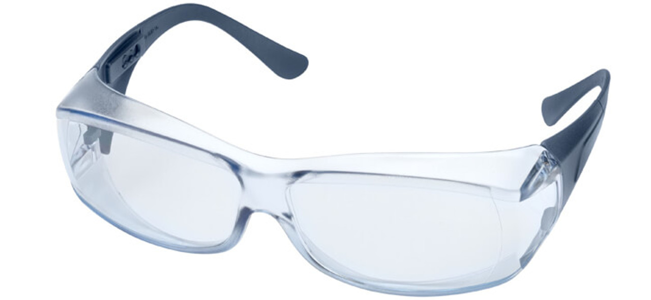 8b67eccafad Elvex OVR-Spec III Safety Glasses with Blue Lens and Metal Detectable  Temples