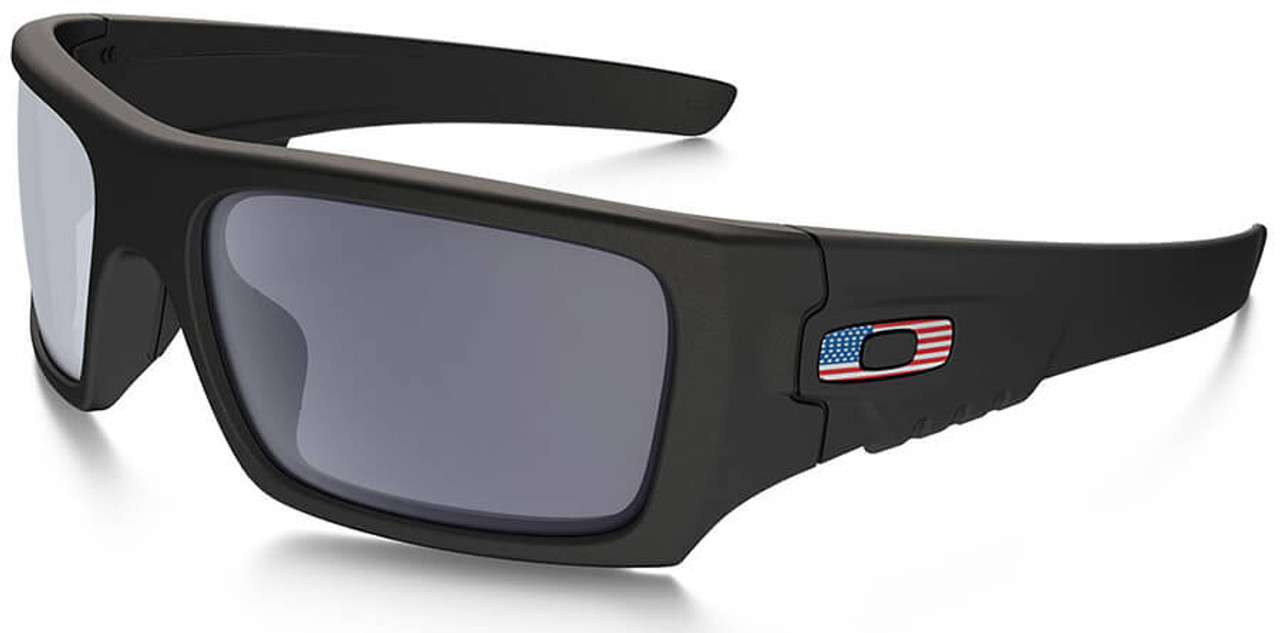 fb6773f7fcf4b Oakley SI Ballistic Det Cord Sunglasses with Matte Black USA Flag Frame and  Grey Lens