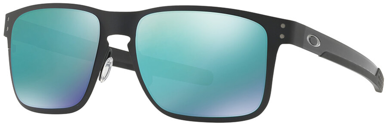 6081579c6cc Oakley Holbrook Metal Sunglasses with Matte Black Frame and Jade Iridium  Lens