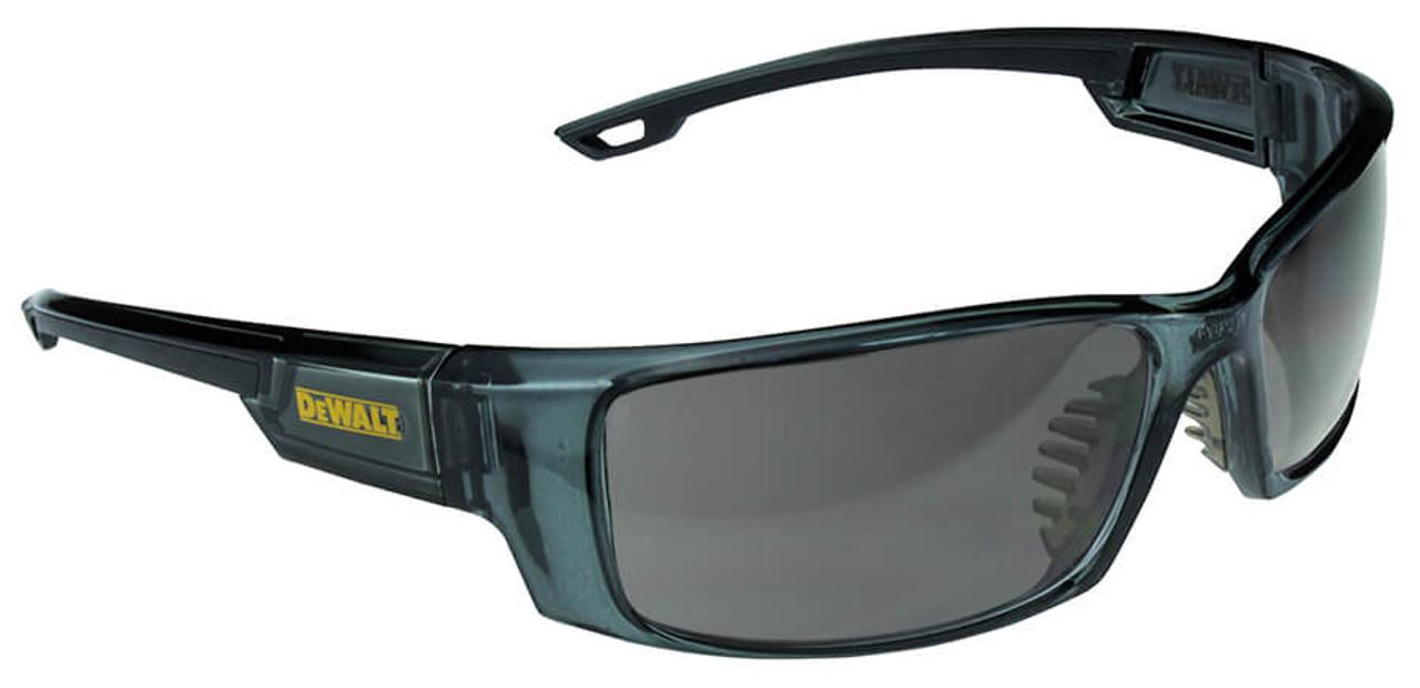 865756f483f DeWalt Excavator Safety Glasses with Crystal Black Frame and Smoke Lens