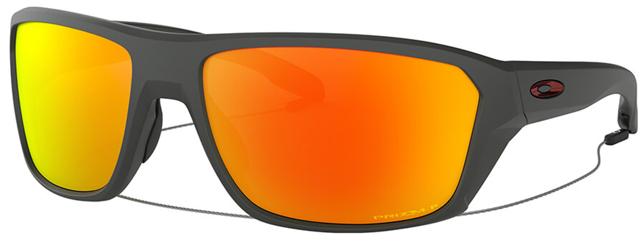 50072df535e Oakley SI Split Shot Sunglasses with Matte Heather Grey Frame and Prizm  Ruby Polarized Lens
