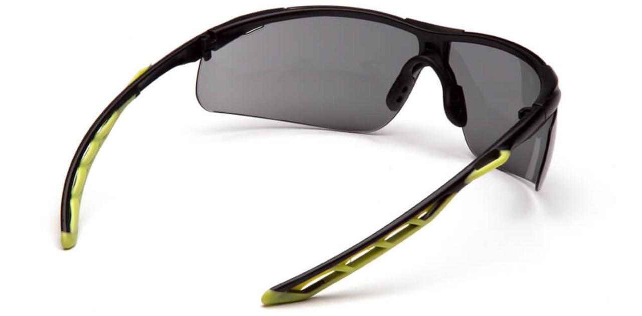 Pyramex Flex-Lyte Gray//Black Indoor//Outdoor Mirror Safety Glasses Sun Z87+