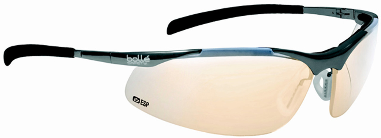 ab1d3044a4 Bolle Contour Metal Safety Glasses with Silver Frame and ESP Anti-Scratch  Lenses