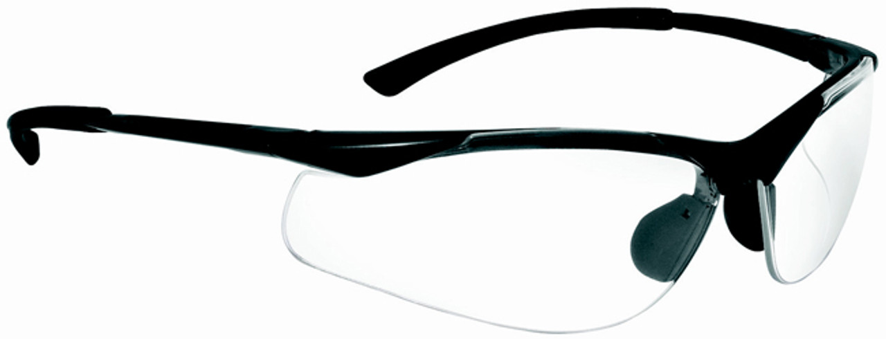 5fe10ff913 Bolle Contour Safety Glasses with Gunmetal Frame and Clear Anti-Scratch and  Anti-Fog
