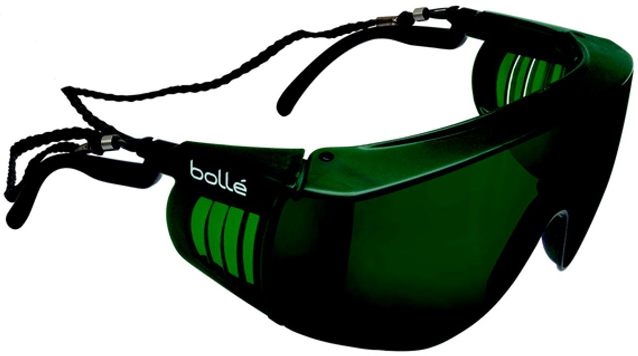 1ef0c89477b4 Bolle Override Safety Glasses Black Frame IR Shade 5 Lens
