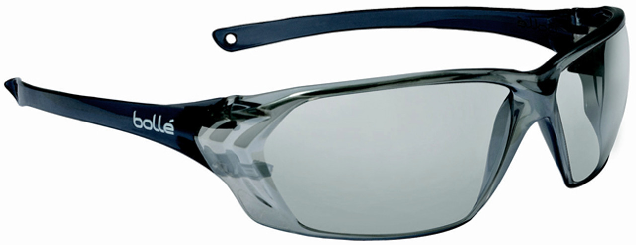 71345d2e05 Bolle Prism Safety Glasses with Shiny Black Temples and Silver Mirror Anti- Scratch Lens