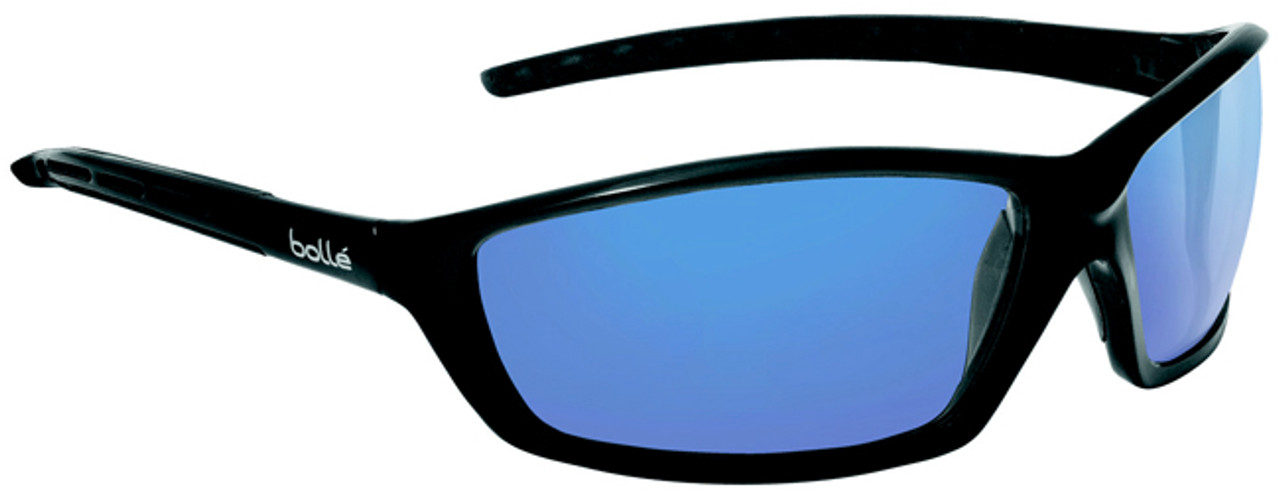 bb299abf39 Bolle Solis Safety Glasses Black Frame Blue Mirror Lens