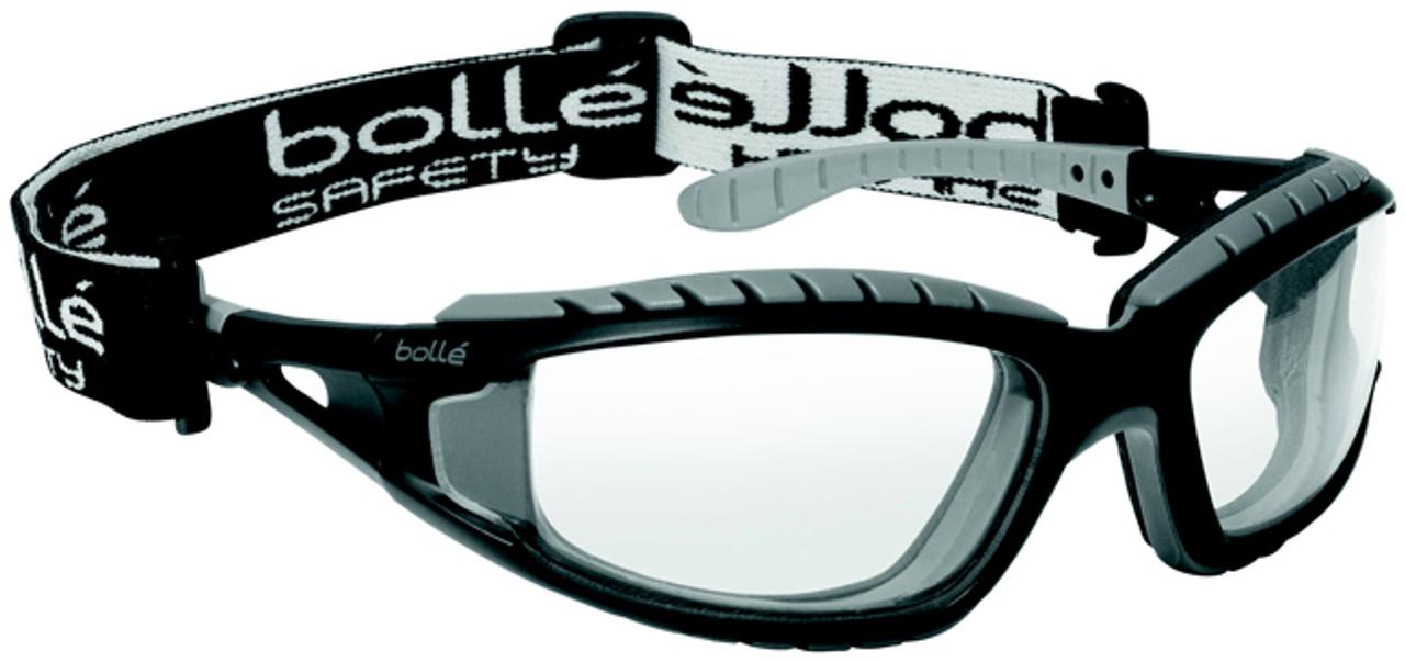 8d4b881b1c6f Bolle Tracker Safety Glasses Black Frame Clear Anti-Fog Lens