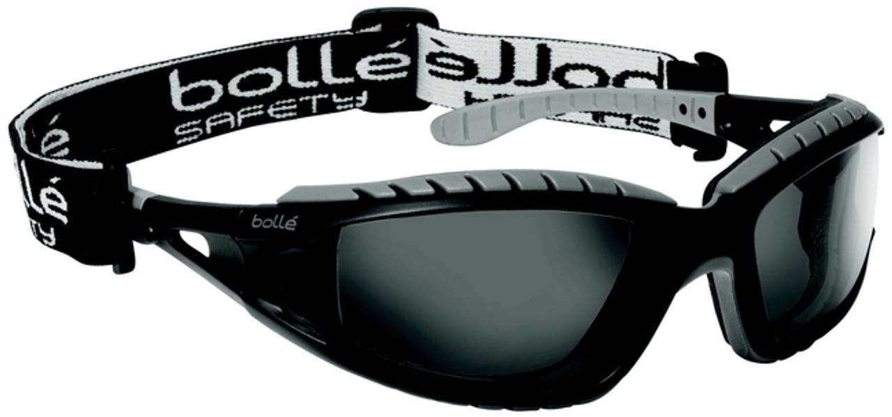 55befa414afc Bolle Tracker Safety Glasses Black Frame Smoke Anti-Fog Lens