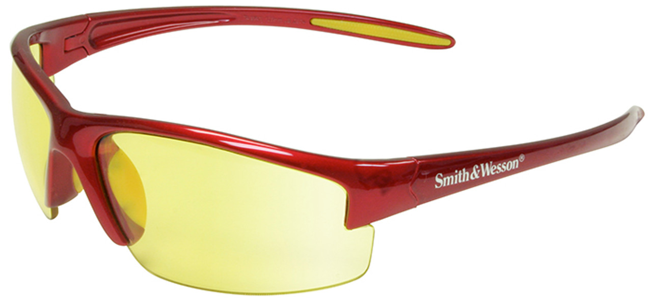 Smith & Wesson Equalizer Safety Glasses with Red Frame and Amber Lens Firma i Przemysł